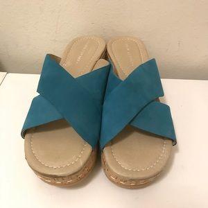 Donald J Pliner wedge heel platform sandals size 8